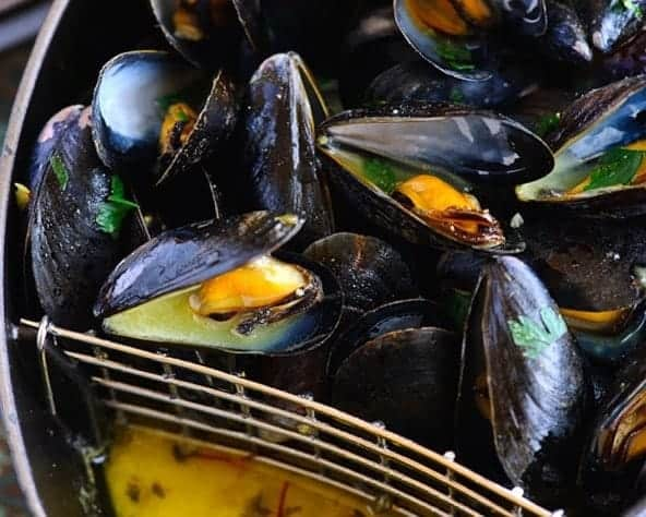 Mussel with Saffron and Mustard Recipe