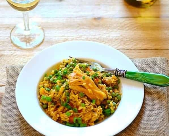 Galinhada Mineira Brazilian Saffron Rice with Chicken and Vegetables Recipe