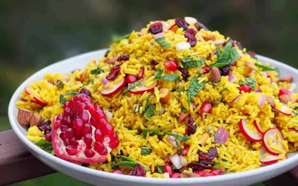 Jewelled Persian Rice Salad Recipe Saffron And More