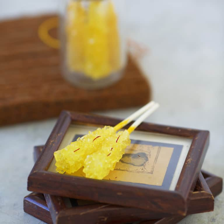 Saffron Rock Candy
