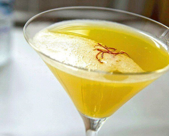 Pineapple Saffron Martini Recipe