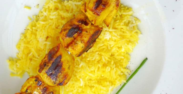 Persian Saffron Chicken Kebab