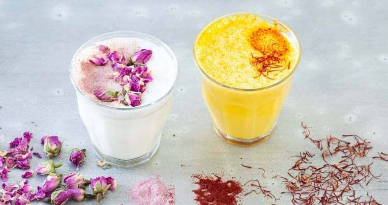 Saffron and Rose Latte
